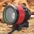 SL-8004 1040lm 3-Mode White Zooming Bicycle Light w/ Cree XM-L U2 - Black + Red (4 x 18650)