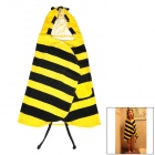 Cartoon Bee Style Baby Kid Cotton Nightgown / Bath Towel - Black + Yellow