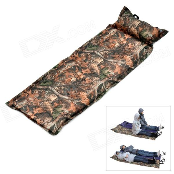 HARLEM CQD01 Outdoor Camping Folding Rectangle 1-Person Inflating Sleeping Pad - Camouflage