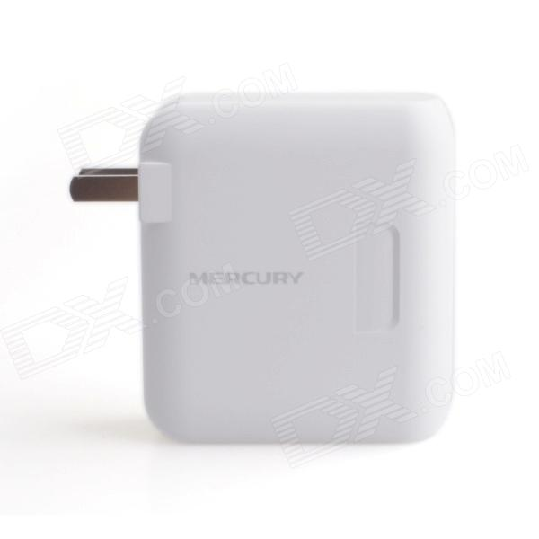 Mercury-MW156RM 150Mbps IEEE802.11b/g/n Wi-Fi Mini Wireless Router - White (2-Flat-Pin Plug)