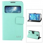 L.LA Protective PU Leather Case for Samsung Galaxy S4 - Green + Black
