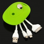 3-in-1 USB 2.0 to 30pin / 8pin Lightning / Micro USB Data Cable for iPhone 5 / 4 / HTC / Sony + More