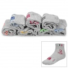 Men's Stylish Cotton Sock w/ Days of The Week Mark - Gray (7 Pair)