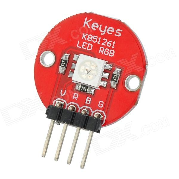 Keyes 5050 RGB LED Module for Offical Arduino Products - Red + Silver keyes electronic bricks inclination sensor works w official arduino products red