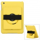 360 Degrees Rotation Protective Plastic + PU Leather Back Case for Ipad MINI - Yellow