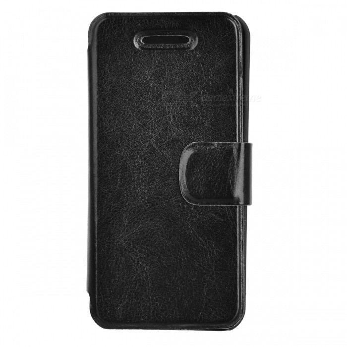 Protective PU Leather Flip Open Case for Iphone 5 - Black viruses cell transformation and cancer 5