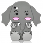 Cute Cartoon Telephone Style Protective Silicone Back Case for Iphone 4 / 4S - Grey