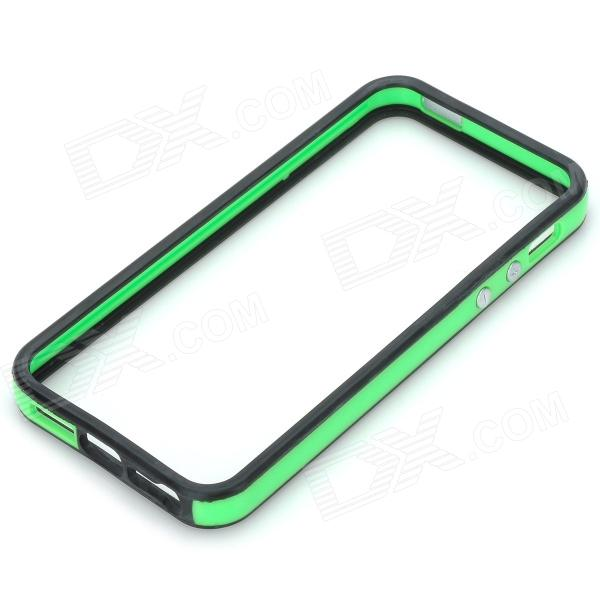 Protective TPU Bumper Frame for Iphone 5 - Green + Black