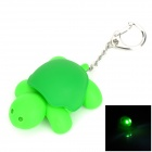Cute Turtle Style 2-LED White Flashlight Keychain - Green (3 x AG10)