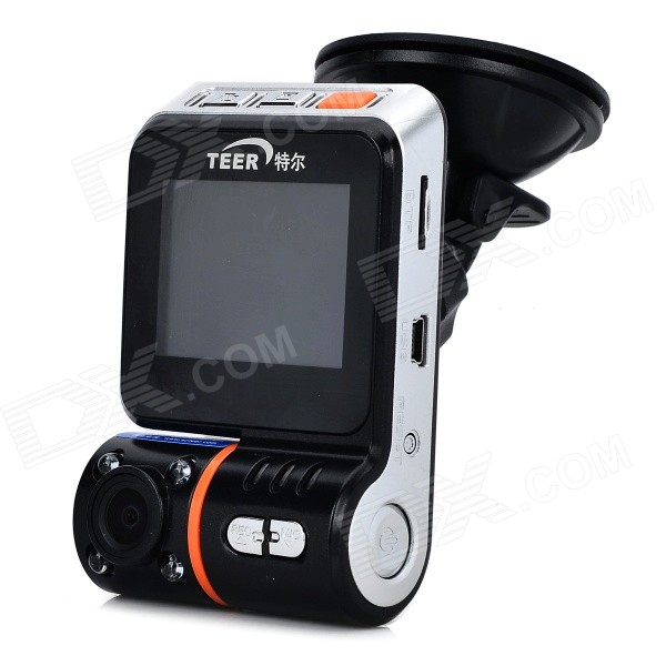 TEER H7160 Mini HD 1080P  Wide Angle 4-LED Night Viewing Digital Car DVR Camcorder - Black