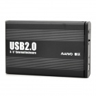 MAIWO K3502-U2S Aluminum Alloy USB 2.0 3.5'' SATA HDD Enclosure Case - Black (Max. 3TB)