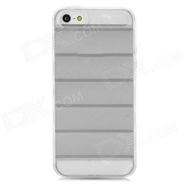 Protective Ladder Style Frosted TPU Back Case for Iphone 5 - Translucent White protective silicone case for nds lite translucent white