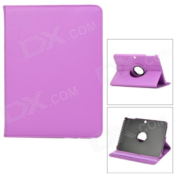 Lychee Pattern 360 Degree Rotation PU Leather Case for Samsung Galaxy Tab 3 P5200 - Purple protective 360 degree rotation holder pu leather case for samsung p6800 p6810 pink