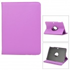 Lychee Pattern 360 Degree Rotation PU Leather Case for Samsung Galaxy Tab 3 P5200 - Purple