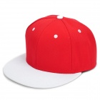 Fashionable Hip-hop Outdoor Sports Fishing Cotton Peaked Cap Sunbonnet - White + Red