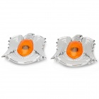 Eagle Style Car Side Turn Light Covers Set - Silver + Yellow (2 PCS)