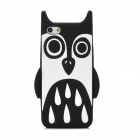 Cute Cartoon Style Protective Soft Plastic Back Case for iPhone 5 - Black + White