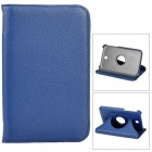 Lychee Pattern 360 Degree Rotation PU Leather Case for Samsung Galaxy Tab 3 P3200 - Dark Blue