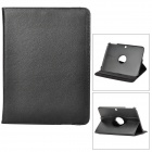 Lychee Pattern 360 Degree Rotation PU Leather Case for Samsung Galaxy Tab 3 P5200 - Black