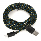 USB 2.0 Male to 8 Pin Lightning Male Nylon Data & Charging Cable - Black (300cm)