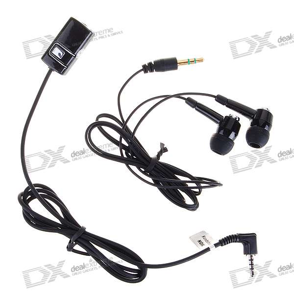 Noise Isolation In-Ear Stereo Headset with Microphone (3.5mm+2.5mm Jack/160cm Cable)