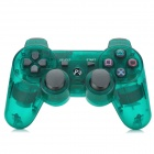 Wireless Dual Shock 6-Axis Bluetooth V4.0 Controller for PS3 / PS3 Slim - Transparent Green
