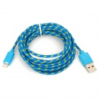 USB 2.0 Male to 8 Pin Lightning Male Nylon Data & Charging Cable - Blue (300cm)