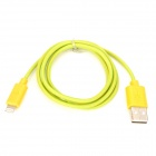 USB Male to 8 Pin Lightning Male Nylon Data & Charging Cable - Yellow (100cm)