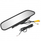"2-in-1 5"" Digital Color TFT Car Rearview Mirror & Security Monitor for Camera DVD VCR - Black"