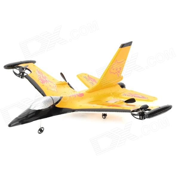 F16-9106 2.5-CH Radio Control Fixed Wing R - C Fighter Model - Geel + Rood + Zwart