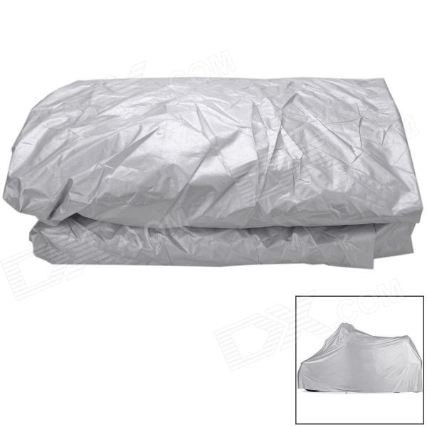 Folding Waterproof Nylon Cover for Motorcycle - Silver