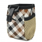 Twill Grid-Muster PU-Leder Car Hanging Lagerung Inhaber w / Clip - White + Black + Brown