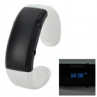 Novel Bluetooth Bracelet w/ Answer Call + Vibration Function + Digital Time - White + Black