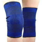 Coolchange KG-788 Outdoor Sports Polyester Knee Support Protectors - Black + Deep Blue (Pair)