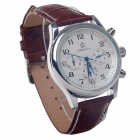 ORKINA P0033 Fashionable Men's Quartz Watch w/ Six Stitch Stopwatch - Brown + Silver (1 x LR626)