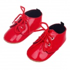 Fashionable And Cute Soft PU Baby Shoes - Red (6~9 Months / Pair)