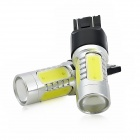 exLED T20 7.5W 500lm  6500K 5-LED White Light Car Brake / Turning Signal Light Bulbs (12V / Pair)