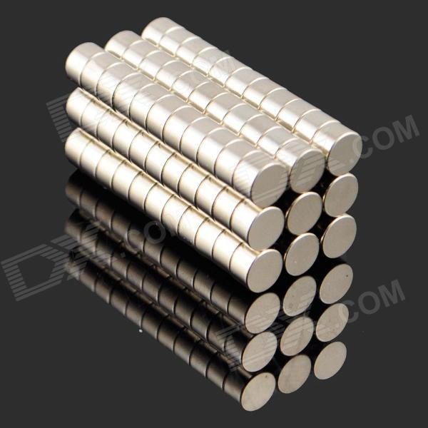 5 x 3mm NdFeB Neodymium Magnet Circular Cylinder DIY Puzzle Set - Silver (100 PCS)Magnets Gadgets<br>ModelNQuantity100MaterialNdFeBPacking List100 x Magnets<br>