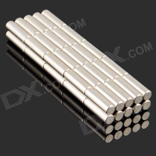 3 x 10mm NdFeB Neodymium Magnet Circular Cylinder DIY Puzzle Set - Silver (50 PCS)Magnets Gadgets<br>ModelNQuantity50MaterialNdFeBPacking List50 x Magnets<br>