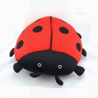 Cute Beetle Style Throw Pillow - Red + Black