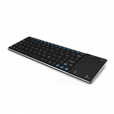 Rii RT-MWK12+ Ultrathin 2.4GHz Keyboard with Touch - Black + Silver