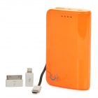 6900mAh Akku Mobile Power Bank-w / 2 Laden Adaters - Orange