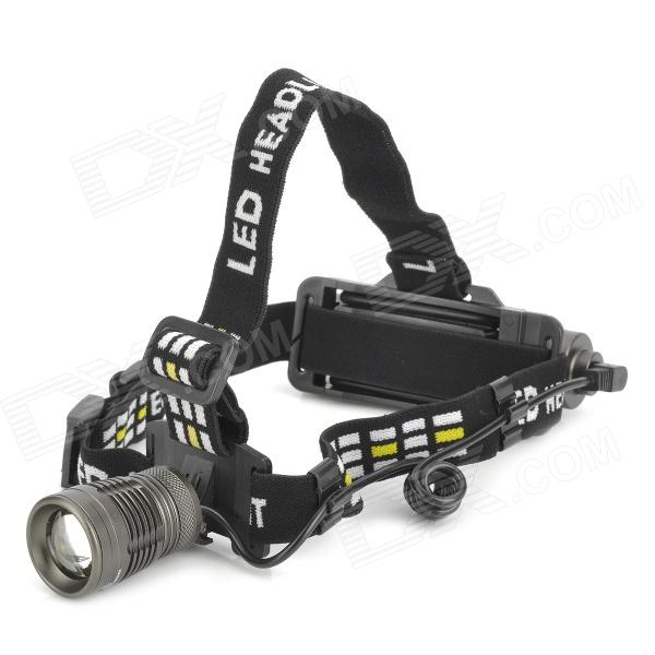 XML-U2 1000lm 5-Mode White Zooming Headlamp w/ Cree XM-L U2 - Dark Grey (1 x 18650) объектив yajiamei cree xml 5 6 u2 21 2 yjm cree xml 20