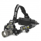 XML-U2 1000lm 5-Mode White Zooming Headlamp w/ Cree XM-L U2 - Dark Grey (1 x 18650)
