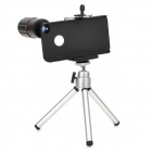 Detectable 8X Telescope w/ TrIpod / Back Case for Iphone 4 / 4S - Silver + Black