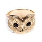 Fashionable Owl Style Zinc Alloy Wide Bracelet - White + Gold + Black