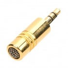 Mini Stainless Steel Hi-Fi Microphone for Desktop / Laptop Computer - Golden (3.5mm Plug)