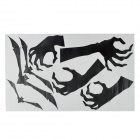 PAG Holloween Bats + Skeleton Hands Pattern Home Room / Wall Decorative Removable Sticker - Black