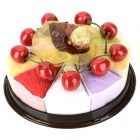 021 Fruit Cake Style Cotton Towel Gift Decoration - Coffee + Pink + Yellow + Green