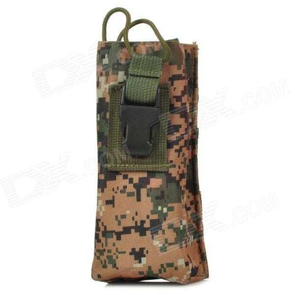 Outdoor Sports Folding Nylon Water Bottle Bag - Camouflage stylish camouflage terylene waist bag